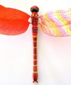 Colours of Australia Garden Stick - Red Dragonfly