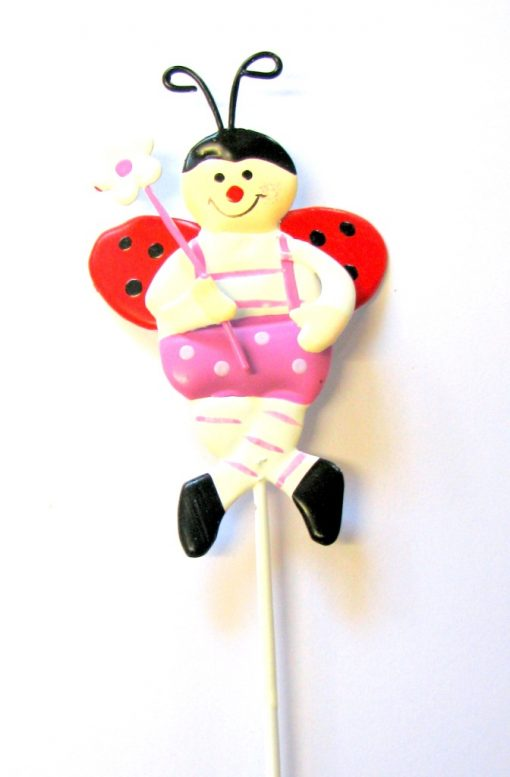 Sitting Ladybug Pot Stick