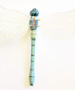 Colours Of Australia Garden Stick   Blue Dragonfly