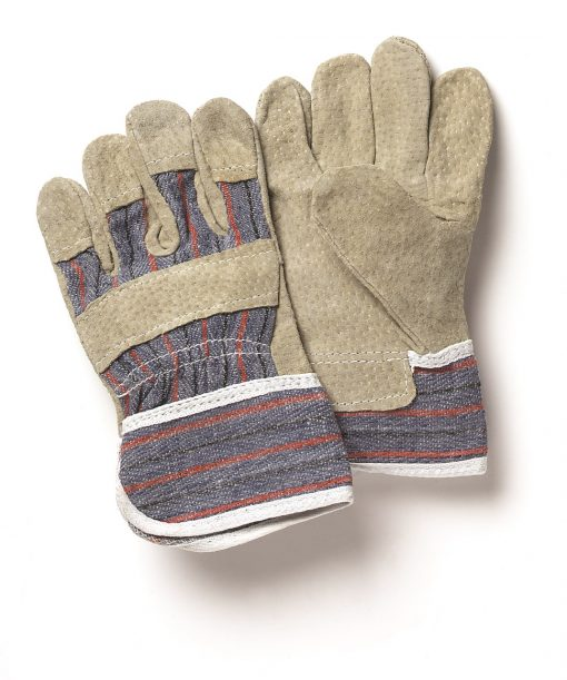 Leather and Cotton Gloves