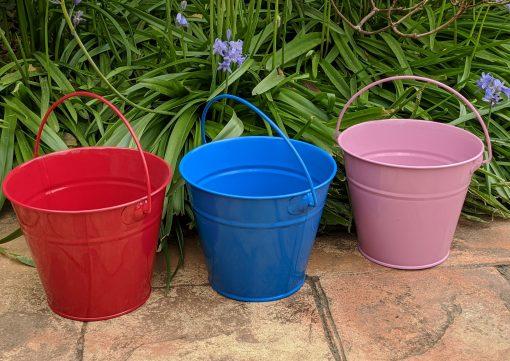Colourful Kids Gardening Buckets